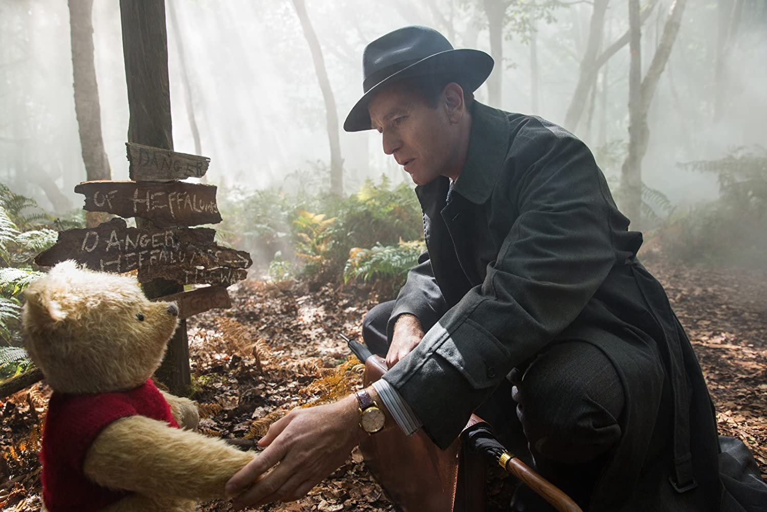 Ewan McGregor and Jim Cummings in Christopher Robin (2018)