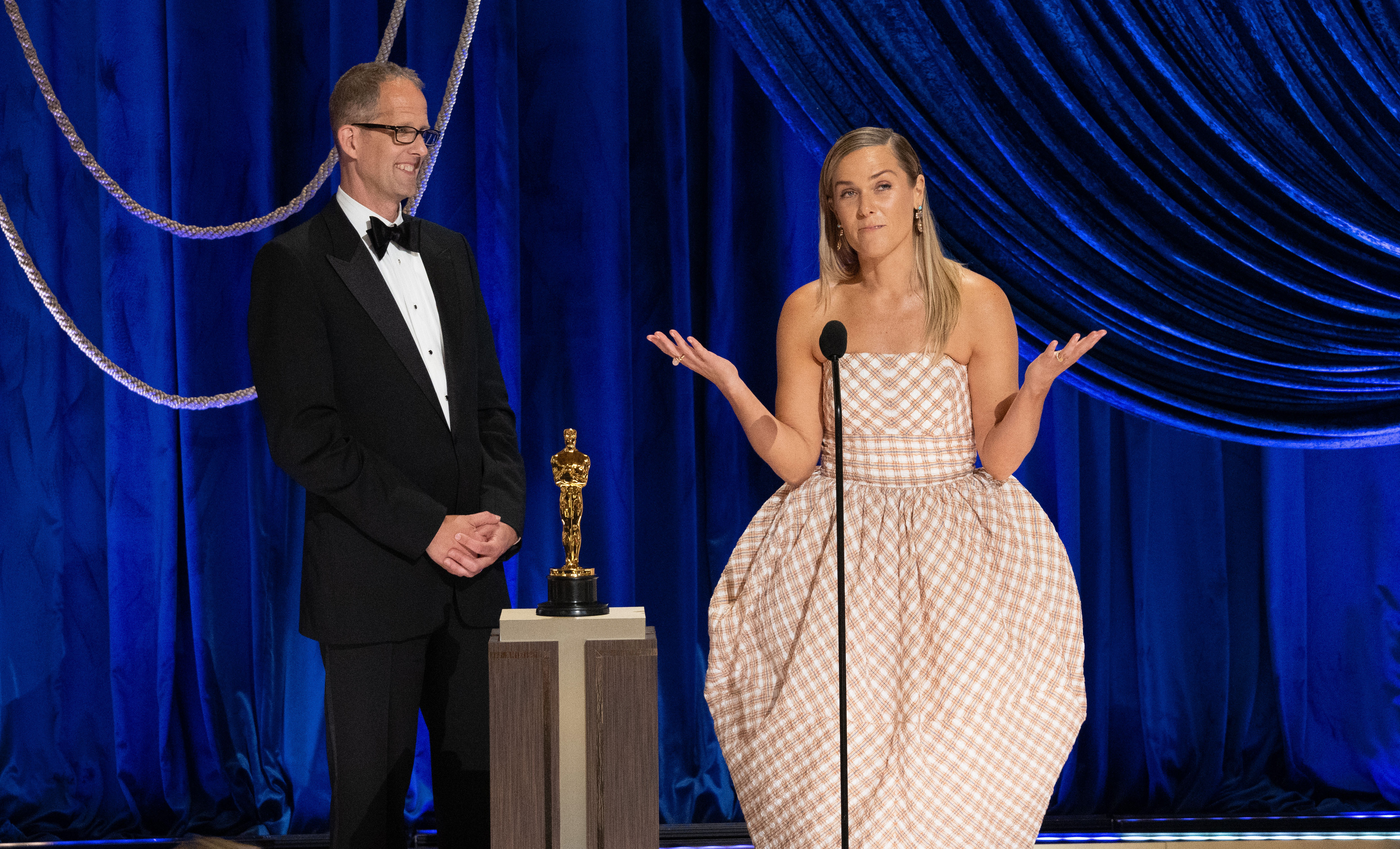Pete Docter and Dana Murray at an event for The 93rd Oscars (2021)