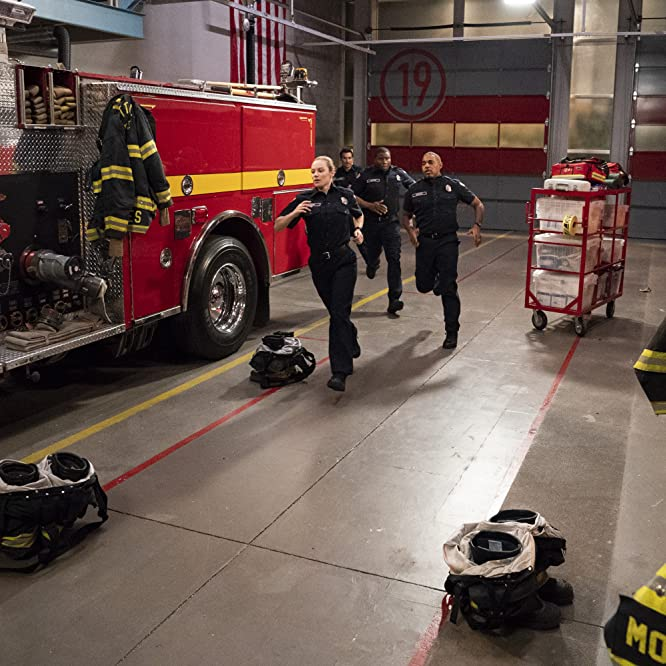 Jason George, Danielle Savre, Jay Hayden, and Okieriete Onaodowan in Station 19 (2018)