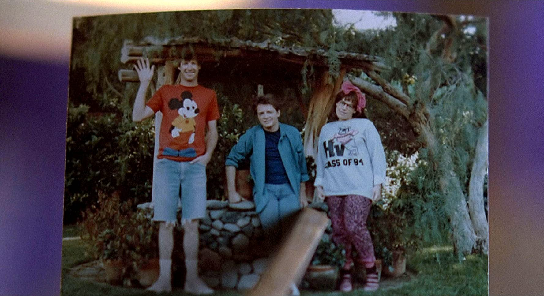 Michael J. Fox, Marc McClure, and Wendie Jo Sperber in Back to the Future (1985)