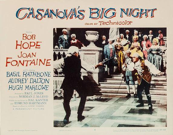 Joan Fontaine, Bob Hope, Basil Rathbone, Audrey Dalton, Hope Emerson, Frieda Inescort, and Hugh Marlowe in Casanova's Big Night (1954)
