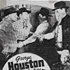 Kenne Duncan, Frank Ellis, George Houston, I. Stanford Jolley, Marjorie Manners, Dennis Moore, and Al St. John in Outlaws of Boulder Pass (1942)