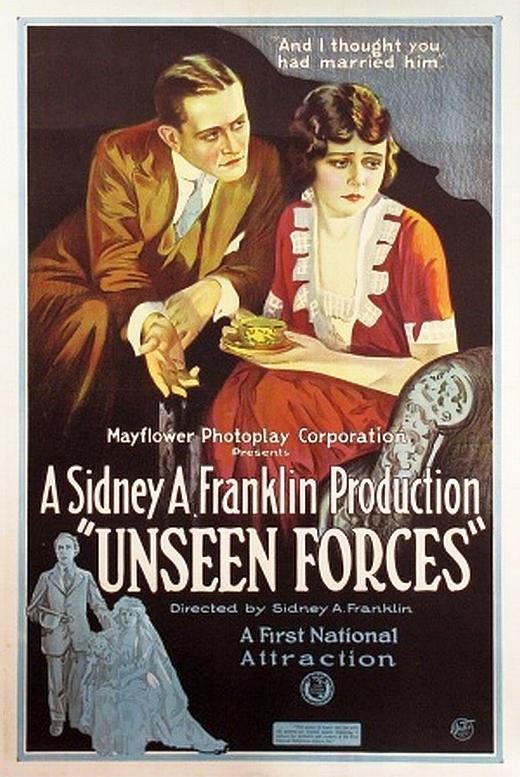 Sylvia Breamer and Conrad Nagel in Unseen Forces (1920)