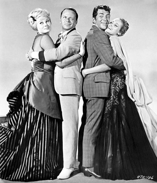 Frank Sinatra Ursula Andress Anita Ekberg and Dean Martin in 4 for Texas 1963