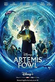 Judi Dench, Colin Farrell, Josh Gad, Nonso Anozie, Lara McDonnell, Tamara Smart, and Ferdia Shaw in Artemis Fowl (2020)