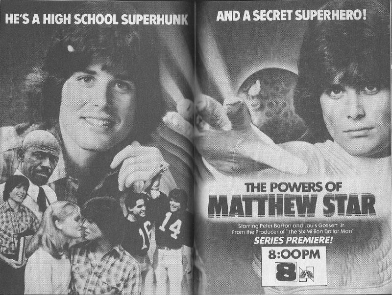 Louis Gossett Jr. and Peter Barton in The Powers of Matthew Star (1982)