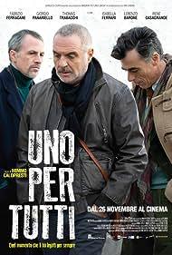 Fabrizio Ferracane, Giorgio Panariello, and Thomas Trabacchi in Uno per tutti (2015)
