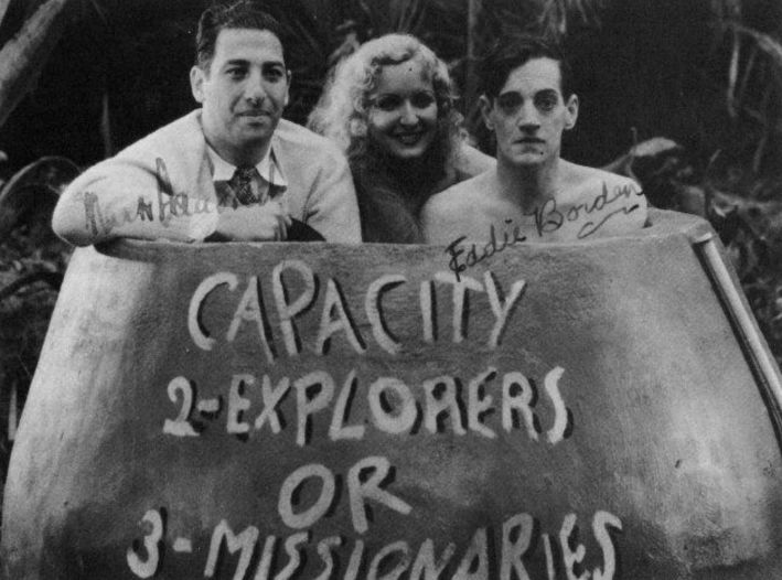 Eddie Borden, Dorothy Granger, and Mark Sandrich in Thru Thin and Thicket, or Who's Zoo in Africa (1933)