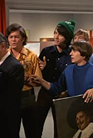 Micky Dolenz, Davy Jones, Arthur Malet, Michael Nesmith, and Peter Tork in The Monkees (1966)