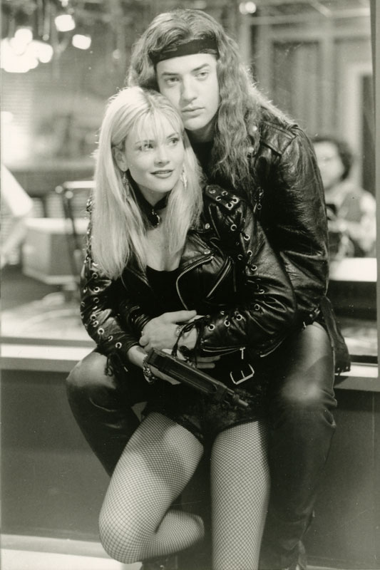 Brendan Fraser and Amy Locane in Airheads (1994)