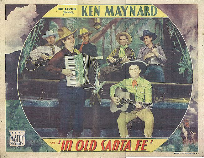 Gene Autry, Smiley Burnette, Art Dillard, Jack Jones, and Frankie Marvin in In Old Santa Fe (1934)