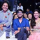Amyra Dastur, Raj Tarun, and Sanjana Reddy at an event for Raju Gadu (2018)