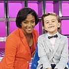 Mason Blomberg with Tiffany Haddish on Kids Say the Darndest Things