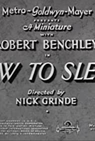 How to Sleep (1935) Poster - Movie Forum, Cast, Reviews