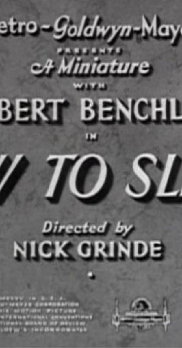 How to Sleep (1935) - IMDb