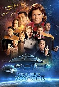 Robert Beltran, Jennifer Lien, Robert Duncan McNeill, Kate Mulgrew, Robert Picardo, Jeri Ryan, Roxann Dawson, Ethan Phillips, Tim Russ, and Garrett Wang in Star Trek: Voyager (1995)