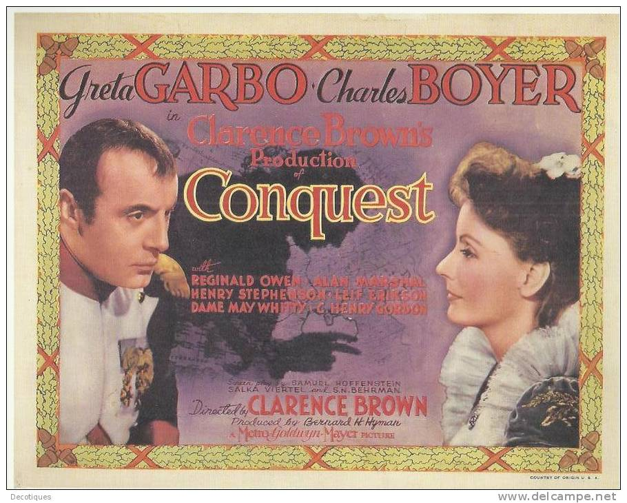 Charles Boyer and Greta Garbo in Conquest (1937)