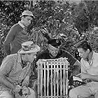Jim Backus, Bob Denver, Alan Hale Jr., and Russell Johnson in Gilligan's Island (1964)