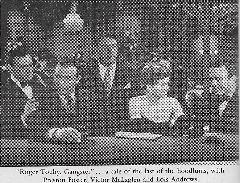 Lois Andrews, Preston Foster, Victor McLaglen, William Post Jr., and Kane Richmond in Roger Touhy, Gangster (1944)