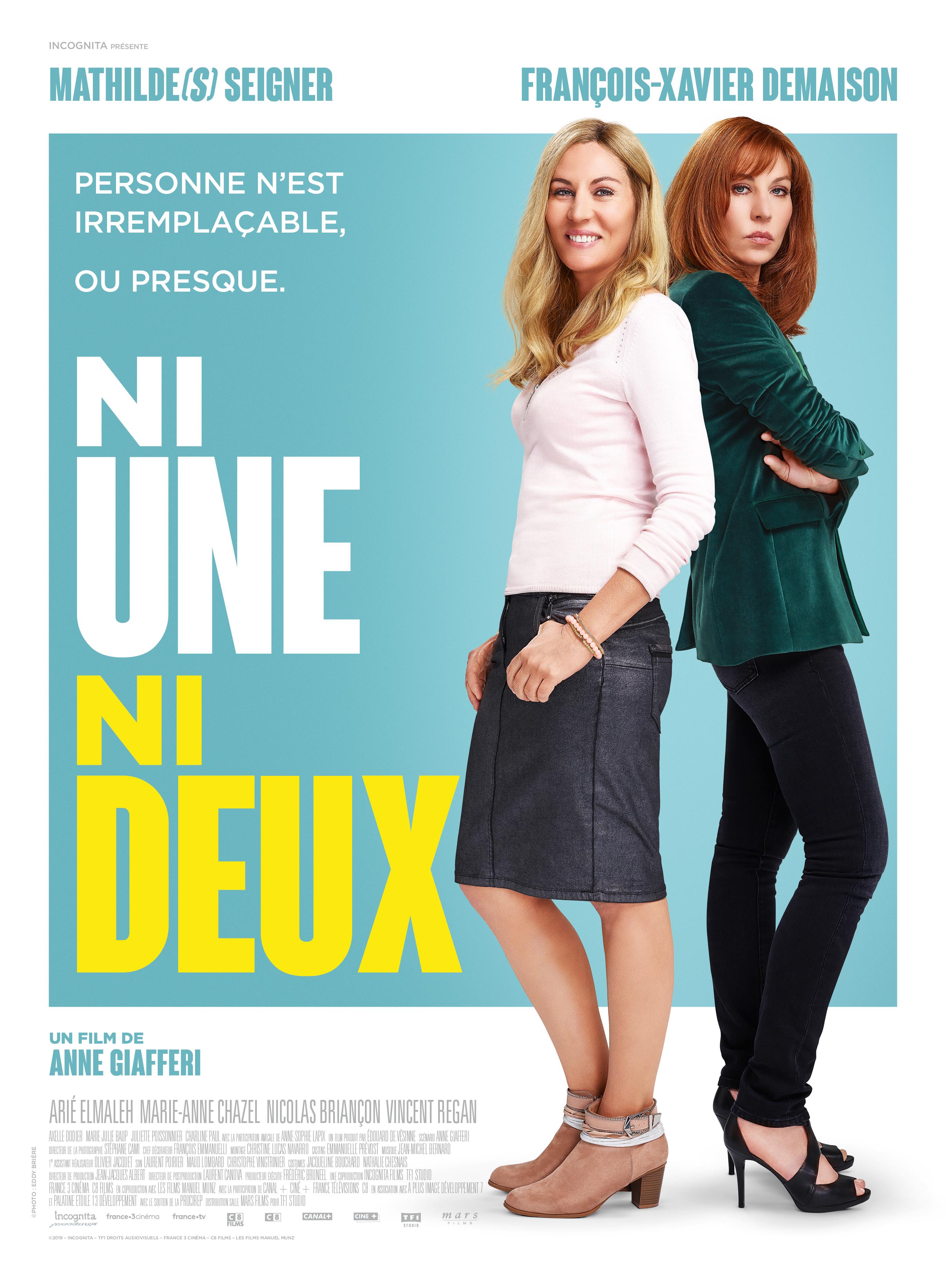 Film Ni une ni deux Streaming Complet - Mathilde Seigner, François-Xavier Demaison, Arié Elmaleh, Marie-Anne Chazel, Nicolas...