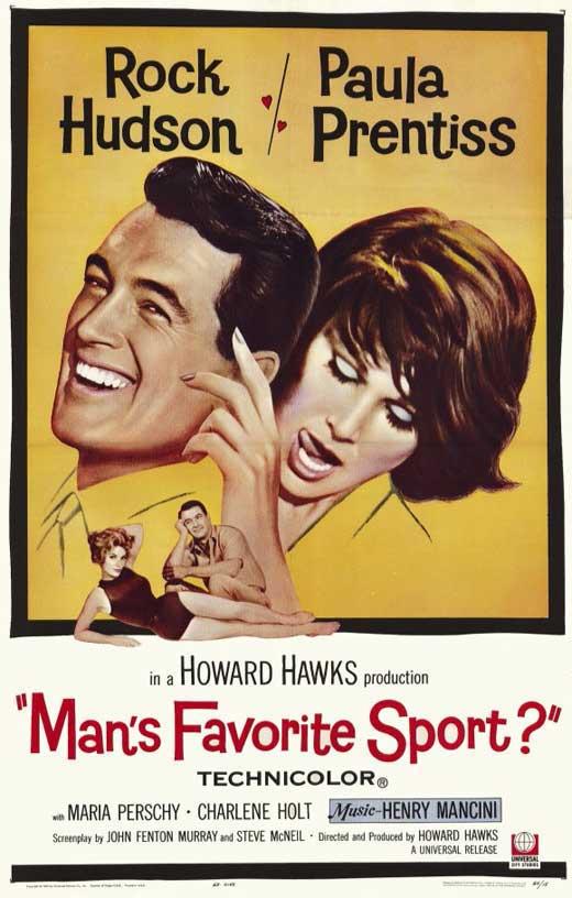 Rock Hudson, Charlene Holt, and Paula Prentiss in Man's Favorite Sport? (1964)