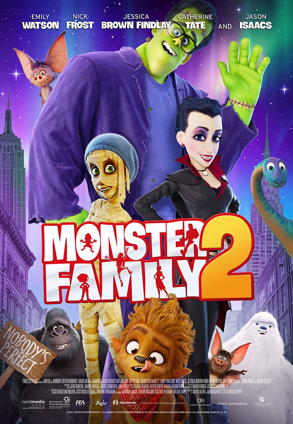 Monster Family 2 2021 English 300MB HDRip 480p Download