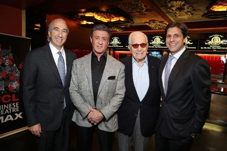 Gary Barber, Sylvester Stallone, Walter Mirisch and Jonathan Glickman at MGM's 90th Anniversary Celebration - TLC Chinese Theater on January 22, 2014