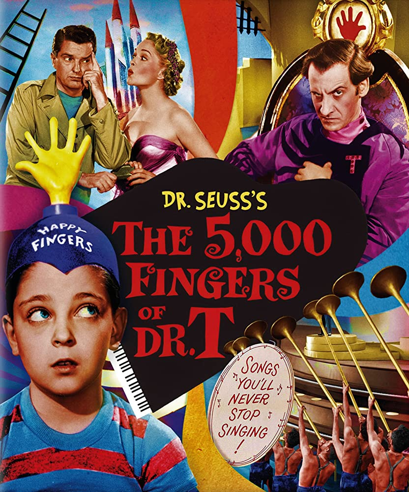 Hans Conried, Peter Lind Hayes, Mary Healy, and Tommy Rettig in The 5,000 Fingers of Dr. T. (1953)