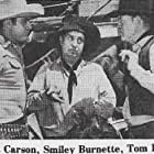 Smiley Burnette, Sunset Carson, and Tom London in Code of the Prairie (1944)