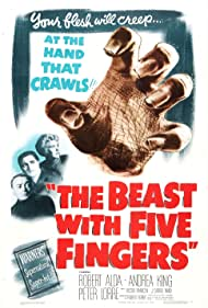 Peter Lorre, Robert Alda, and Andrea King in The Beast with Five Fingers (1946)