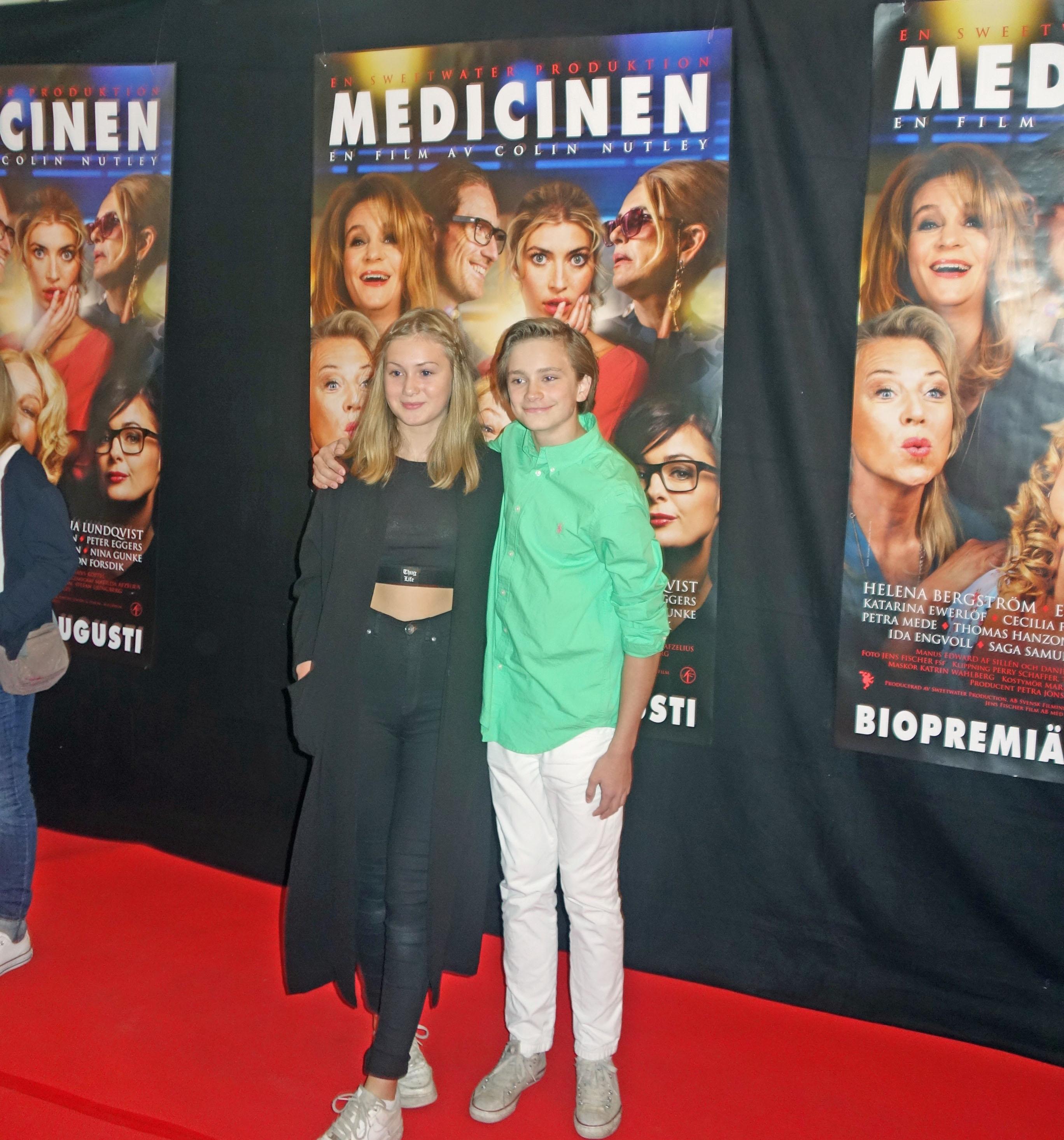 Saga Samuelsson and Anton Forsdik at an event for Medicinen (2014)