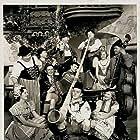 Oliver Hardy, Franz Hug, Otto Jehly, Ham Kinsey, Stan Laurel, Grete Natzler, Harry Semels, Tudor Williams, Etherine Landucci, Joseph Struder, and Louis Studer in Swiss Miss (1938)