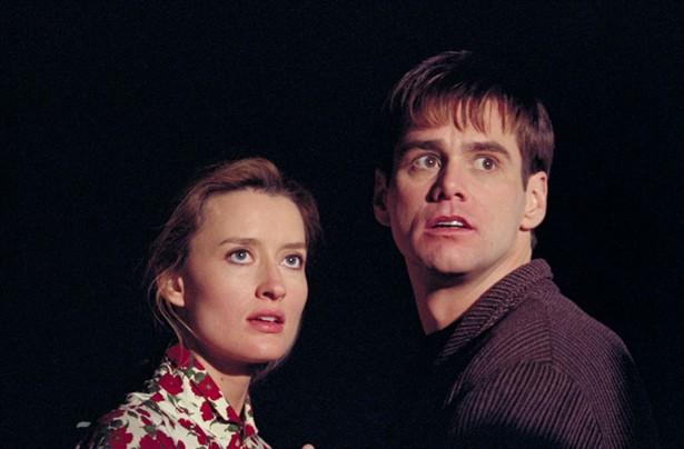 Jim Carrey and Natascha McElhone in The Truman Show (1998)