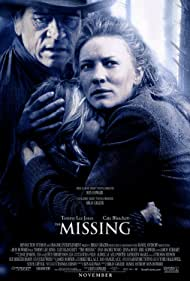 Tommy Lee Jones, Cate Blanchett, and Jenna Boyd in The Missing (2003)
