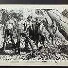 Gregory Peck, Robert Arthur, Charles Kemper, Harry Morgan, and John Russell in Yellow Sky (1948)