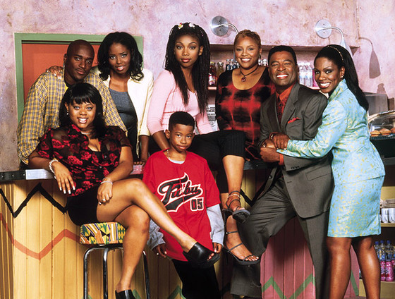 Shar Jackson, Brandy Norwood, Sheryl Lee Ralph, Lamont Bentley, Marcus T. Paulk, Countess Vaughn, Yvette Wilson, and William Allen Young in Moesha (1996)