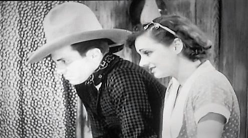 Marion Burns and Dennis Moore in The Dawn Rider (1935)