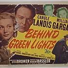Mary Anderson, Richard Crane, William Gargan, and Carole Landis in Behind Green Lights (1946)