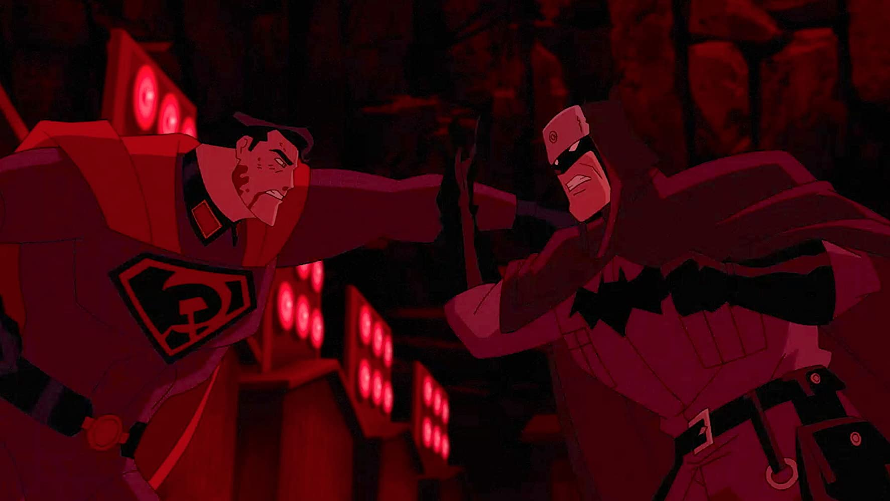 Jason Isaacs and Roger Craig Smith in Superman: Red Son (2020)