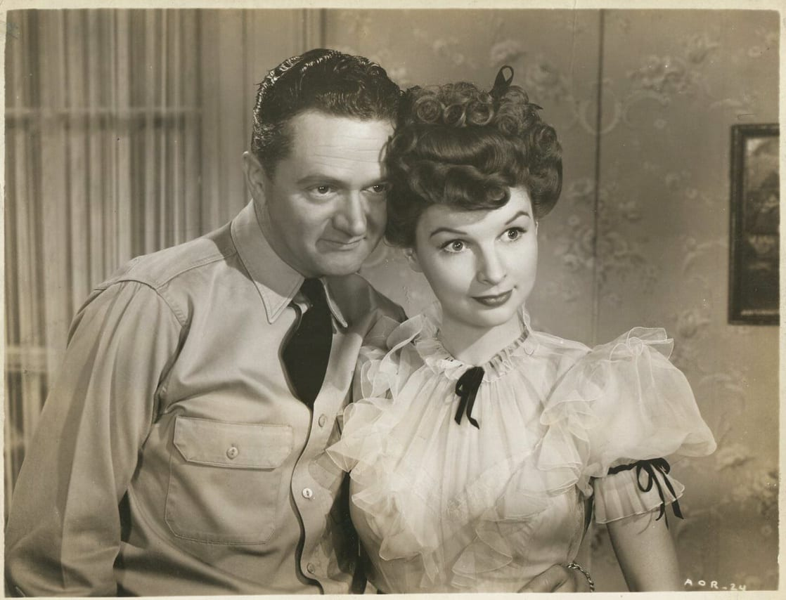 Wally Brown and Margaret Landry in The Adventures of a Rookie (1943)