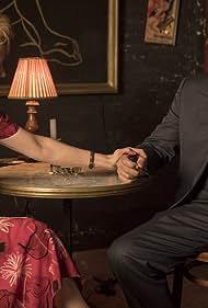 Rowan Atkinson and Lorraine Ashbourne in Maigret (2016)