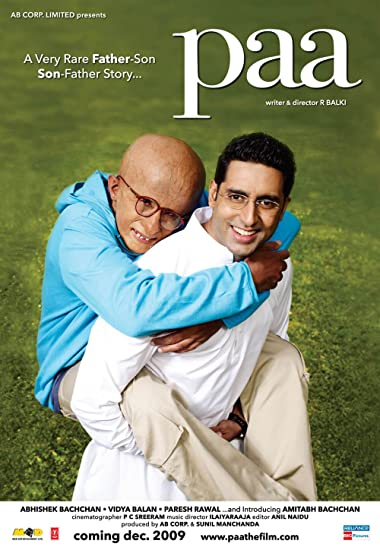Poster of Paa 2009 Full Hindi Free Download Watch Online In HD Movie Download 480p BluRay