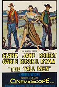 Clark Gable, Jane Russell, and Robert Ryan in The Tall Men (1955)