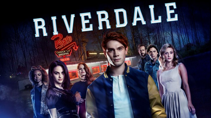 Luke Perry, Cole Sprouse, Ashleigh Murray, Lili Reinhart, Camila Mendes, K.J. Apa, and Madelaine Petsch in Riverdale (2016)