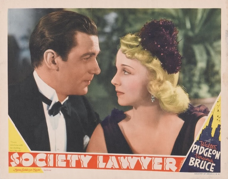 Virginia Bruce and Walter Pidgeon in Society Lawyer (1939)