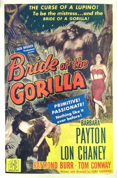 Barbara Payton in Bride of the Gorilla 1951