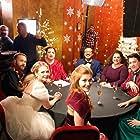 Melissa Joan Hart, Barry Watson, Rizwan Manji, Marissa Jaret Winokur, Colin Theys, and Katie McCarty in A Very Nutty Christmas (2018)