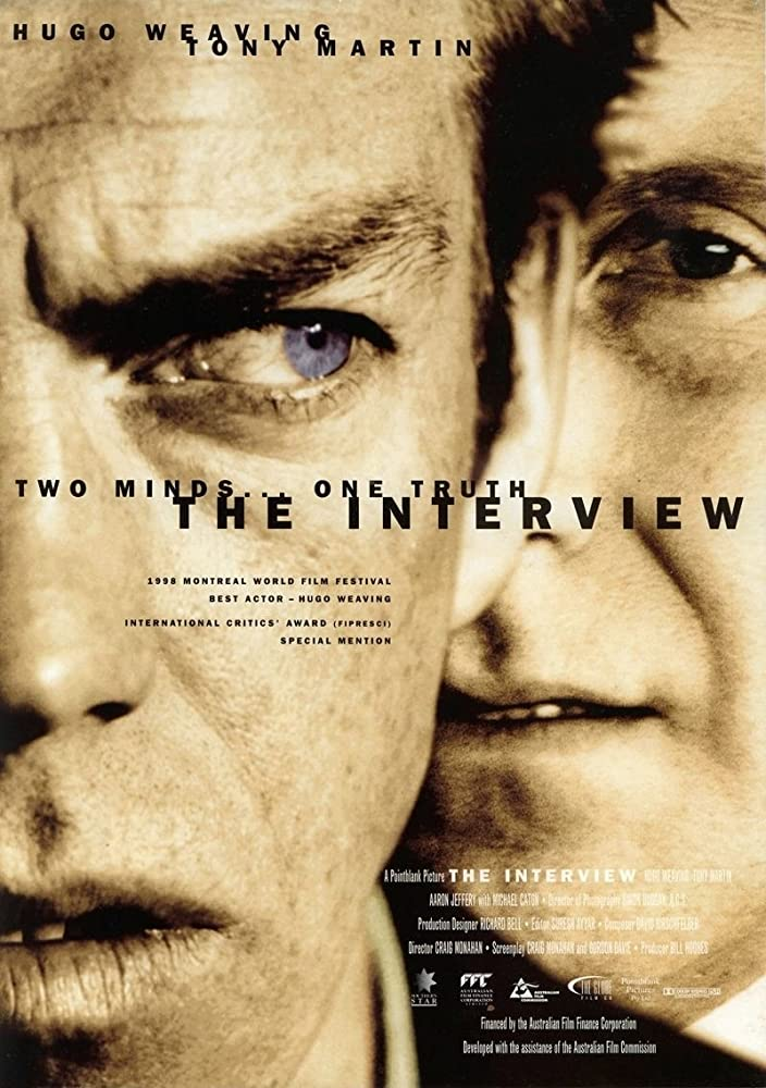 Tony Martin and Hugo Weaving in The Interview (1998)