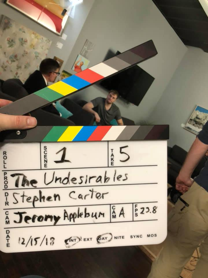 On set for The Undesireables