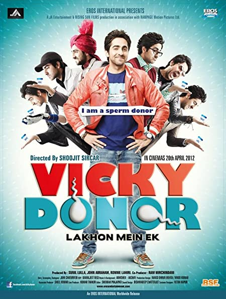 Vicky Donor (2012) Hindi Blu-Ray - 480P | 720P - x264 - 350MB | 1.1GB - Download & Watch Online  Movie Poster - mlsbd